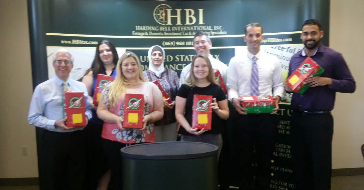 HBI Team Participates in Operation Christmas Child 2017