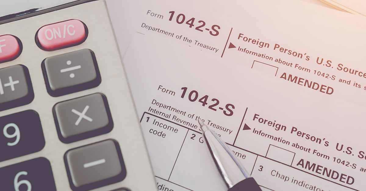 Important Reminder for Property Management Companies – Form 1042-S required to report rental income for foreign owners of US rental property