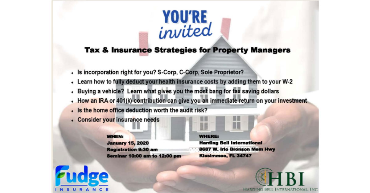 Calling Property Managers to Join HBI & Fudge Insurance